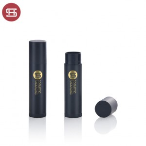 OEM hot sale cheap wholesale makeup black lip care clear slim cute PP custom empty lip balm container