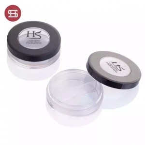 Custom empty round plastic clear cosmetic jars