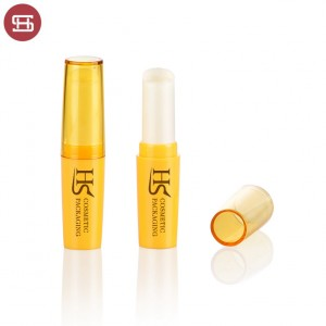OEM hot sale cheap wholesale makeup cosmetic lipcare clear slim PP custom empty lip balm tube