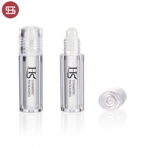 OEM hot sale cheap wholesale makeup lip care clear slim cute PP custom empty lip balm tube