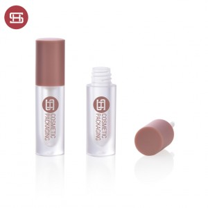 new round thick wall empty plastic lipgloss tube container custom  new design empty plastic lipgloss tube container