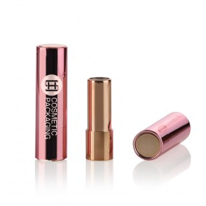9039# Wholesale high quality branded press button plastic lipstick tube