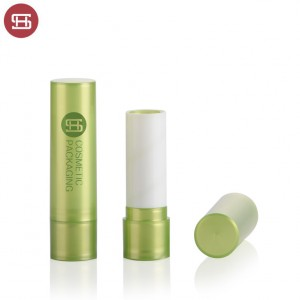 OEM hot sale cheap wholesale cosmetic lip care clear slim cute PP custom empty lipbalm tube