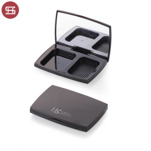 Wholesale hot sale cosmetic cheap pressed black empty compact powder case packaging