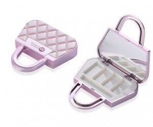 hangbag shape 4 color eyeshadow case with mirror —ITEM NO 9130B