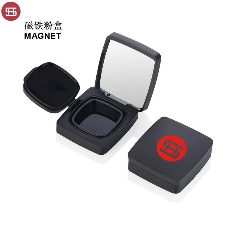 OEM empty round cosmetic black powder packaging  CC BB cushion case Featured Image