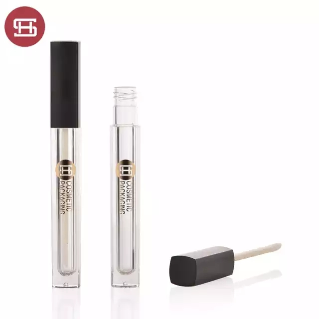 New promotion square makeup cosmetic plastic empty lipgloss tube containers with brush Featured Image
