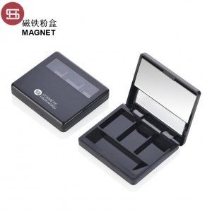 #9425D# 3 color square shape inner pallet New item magnet empty  eyeshadow