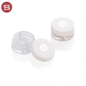 Custom empty round plastic clear stackable cosmetic jars