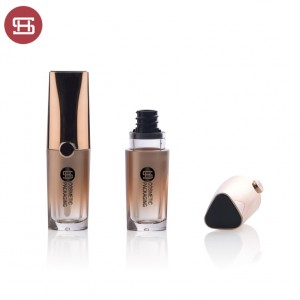 new arrival empty plastic square lipgloss tube container custom  new design empty plastic lipgloss tube container