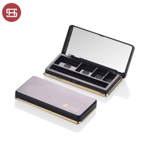 Hot sale cosmetic empty eyeshadow case packaging