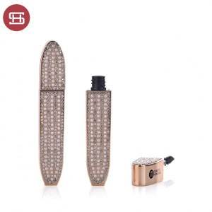 Luxury Mascara tube with crystal and pearl