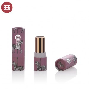 Eco friendly lip balm tube Custom logo high quality cardboard paper round lipstick packaging