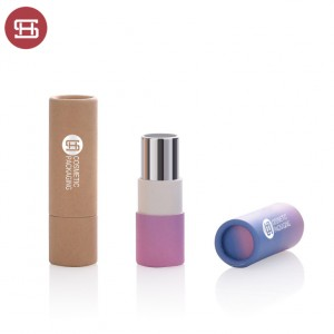 Biodegradable lip balm tube paper lipstick paper tube recycled lip balm packaging