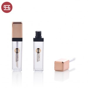 new square empty plastic lipgloss tube container custom  new design empty plastic lipgloss tube container