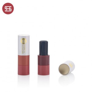 9720# custom empty round magnet luxury lipstick tube galore packaging container case for cosmetic