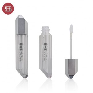 new special empty plastic lipgloss tube container custom  new design empty plastic lipgloss tube container