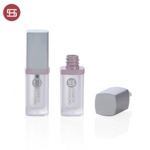 new suqare and thick wall empty plastic lipgloss tube container  custom new design empty plastic lipgloss tube container