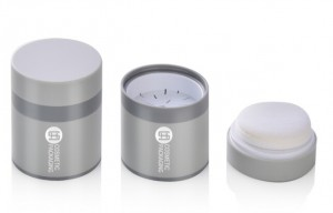 plastic empty  loose powder case with puff