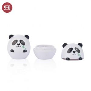 9787# Wholesale Cute Panda Shaped Empty Lip Blam Jar