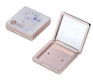 9794# square 58mm  powder case packaging empty compact