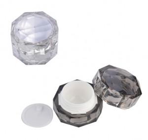 diamond shape plastic empty jar