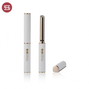 9836# Slim and Long High End Gold Empty Lipstick Tube with Leather