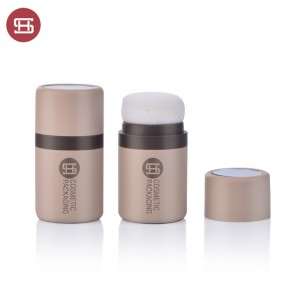 9841#High Quality Empty Plastic Loose Powder Jar Sifter Hairline Jar Tube with Puff