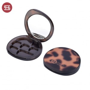 9842#3D Printing Amber Unique Shape Timber Shell Custom Empty Eyeshadow Palette Case