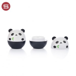 #9844 OEM panda white and black color empty cosemtc jar