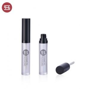 9848# Customized Black Empty Plastic Round Lip Gloss Tube