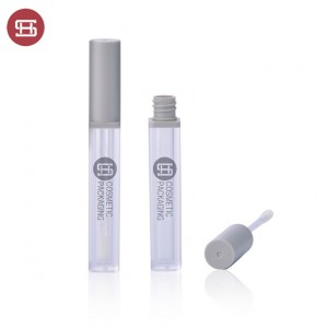 9849# Print Your Logo Unique Square Plastic Empty 5ml Frosted Lip Gloss Tubes