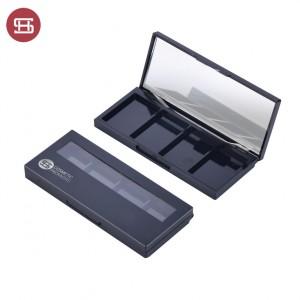 9856# Empty Custom Black 4 Colors Eyeshadow Case