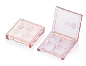9861B# clear 4 color square customize Eyeshadow Case