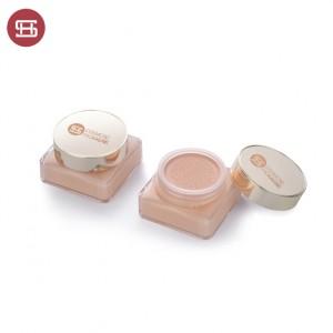 9874# Custom pink Round cap square bottle Plastic Empty BB Cushion Compact Foundation Case