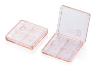 9909#Wholesale clear new 4 color square customize Eyeshadow Case