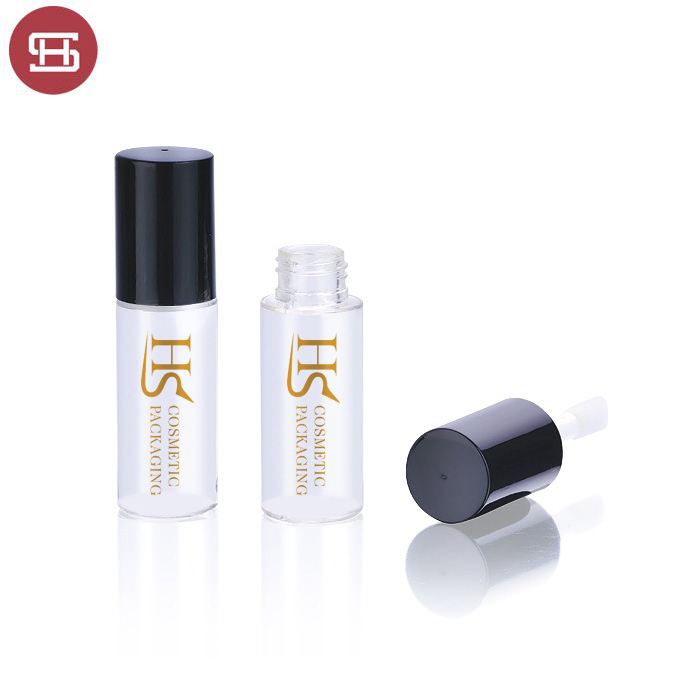 Hot sale cheap cosmetic empty plastic clear mini round lipgloss container tube with brush Featured Image