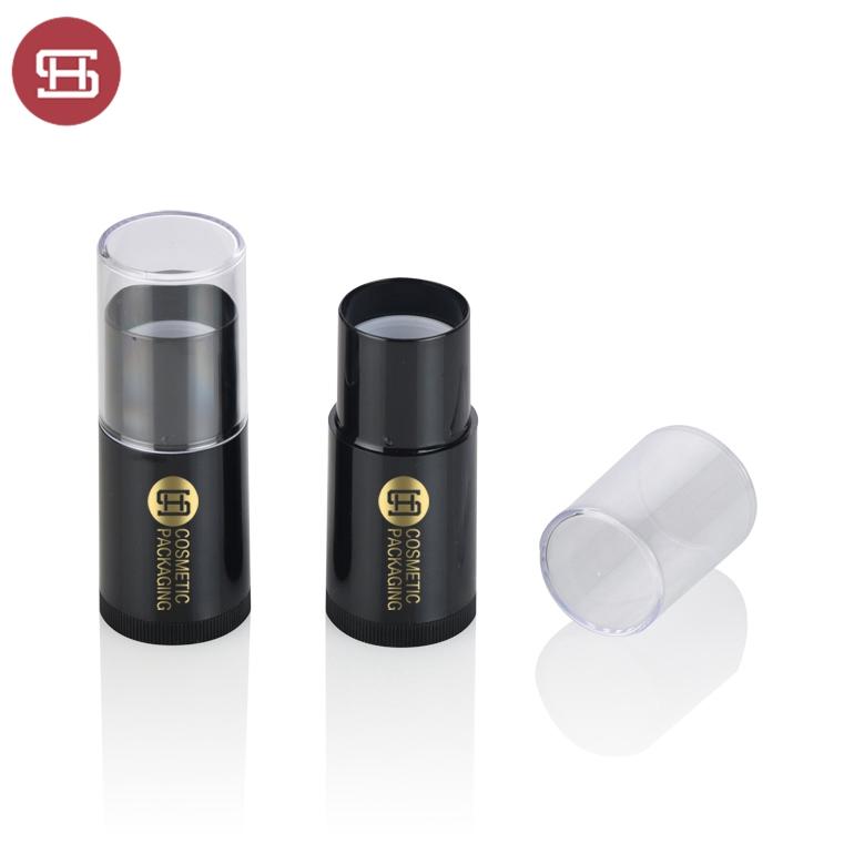 Custom cheap black plastic round foundation stick container