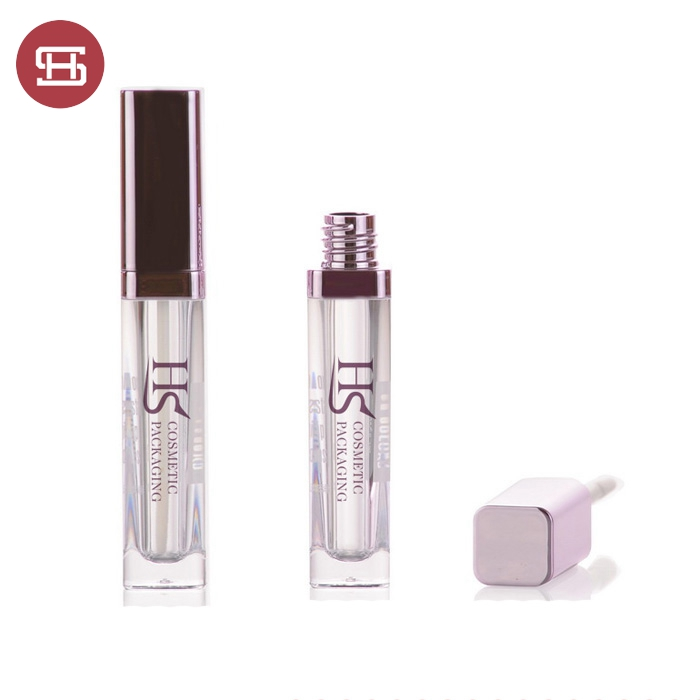 Cheap price hot sale custom rose gold luxury square shaped empty lipgloss tube container
