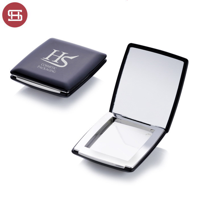 wholesale cosmetic makeup square plastic custom empty compact powder case container with mirror