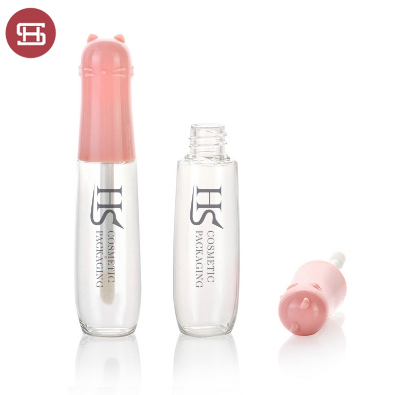 Hot sale OEM makeup children cosmetic carton lovely pink custom empty cute lipgloss tube container