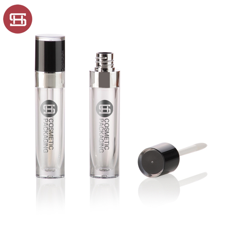 New products hot sale makeup cosmetic liquid black clear empty custom private label lipgloss tube container packaging