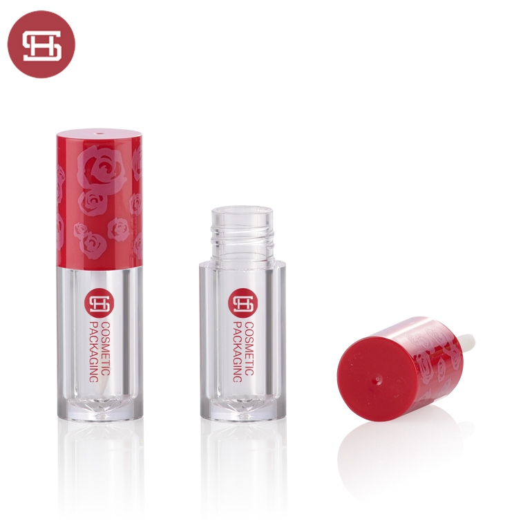OEM Supply Plastic Clear Square Empty Lip Gloss Tubes -
