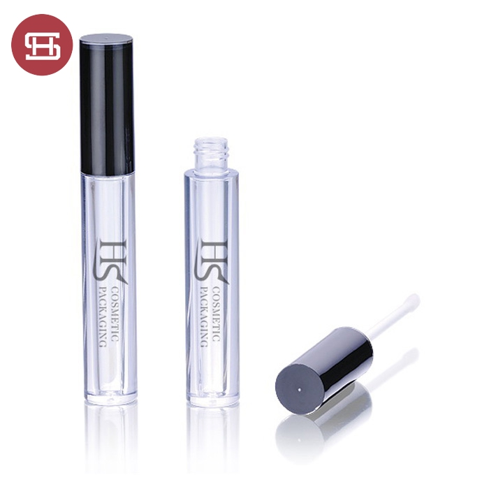 New hot sale wholesale cheap makeup cosmetic custom black clear cylinder round empty lipgloss tube container packaging