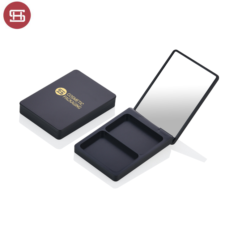 New products hot sale makeup cosmetic black clear magnet empty custom private label eyeshadow case packaging palette