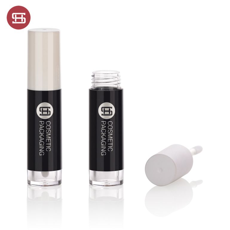 2019 newest design round empty lipgloss container with brush