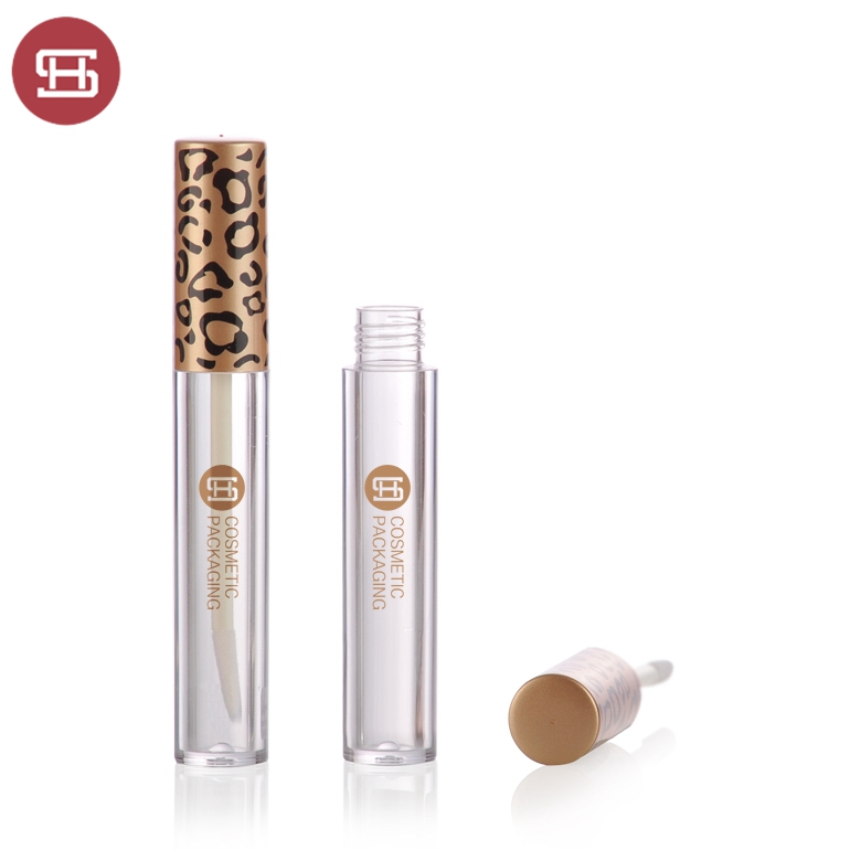Aluminum hot sale makeup cosmetic liquid black clear empty custom private label lipgloss tube container packaging