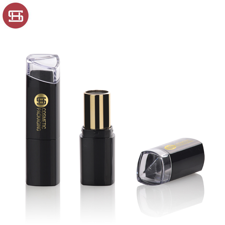 China OEM Lipstick Tube Container - OEM custom wholesale makeup unique plastic black empty lipstick tube container with window – Huasheng