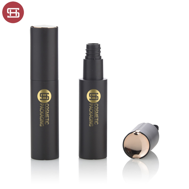 Wholesale new hot products makeup cosmetic gold black luxury plastic empty round mascara tube container