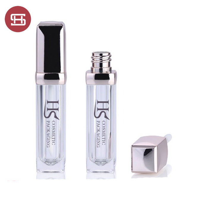 2019 cosmetic silver cap luxury lip gloss tube